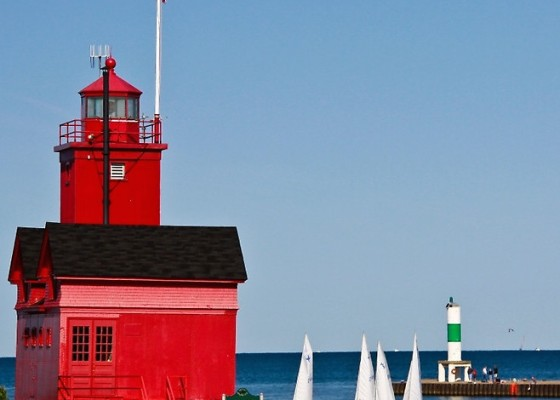 Holland, MI Lighthouse affectionately known as Big Red.